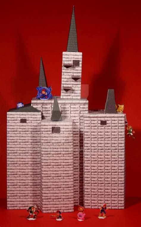Castle Papercraft - hyrule castle ssb papercraft by drummyralf on deviantart