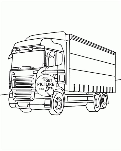 box truck coloring page nice box truck coloring page for kids transportation