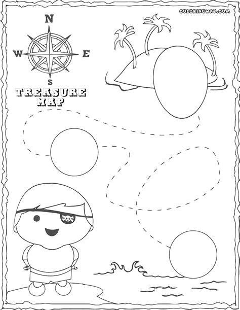 treasure map coloring pages coloring pages to download