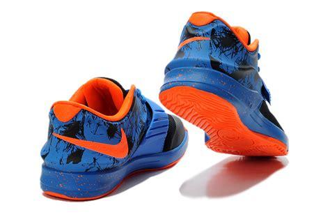 nike kd 7 vii black photo blue team orange cheap