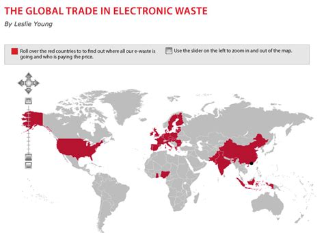map of hazardous waste infographics maps and more electronic waste where does it go