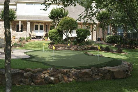dream garden   husband backyard putting green golf