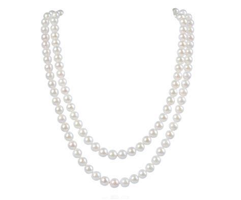 akoya pearl necklace two strand aaa white cultured akoya