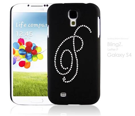 Samsung S5 G900 Softcase Chrome Water Glitter personal initial diamante bling bling phone cover samsung galaxy s4 ebay