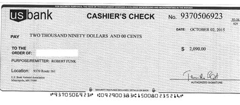 cashiers check template onlinecashsource
