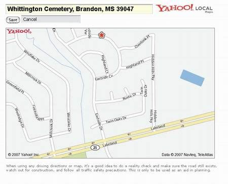 16th section land in mississippi whittington cemetery aka holden cemetery
