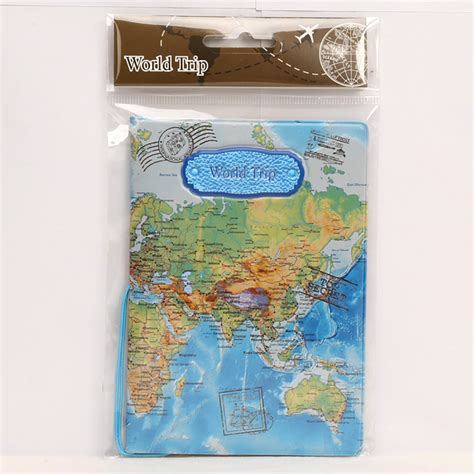 Passport Cover Map Edition cool map passports travel cover passport holder leather pvc 3d design 9 different