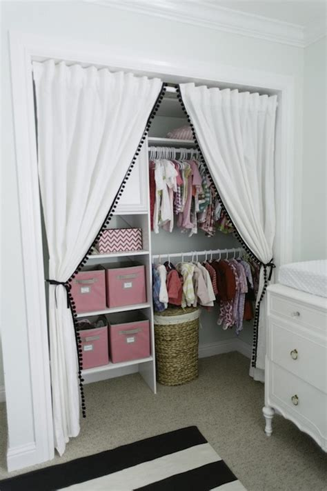 closet with curtains linen closet curtains design ideas