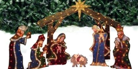 outdoor lighted nativity sets for sale nativity sets outdoors lighted live maigret