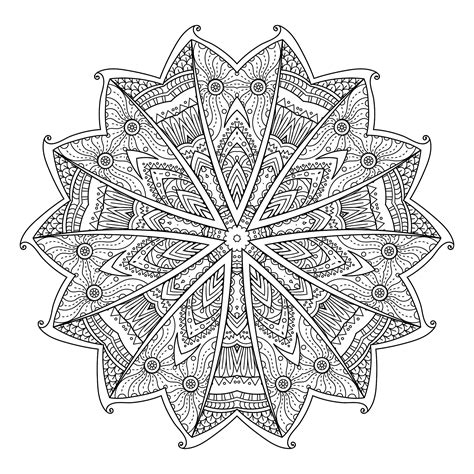 abstract decorative background mandalas adult coloring pages
