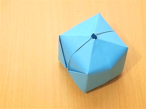 How To Make Origami Balls - how to make an origami balloon 8 steps with pictures