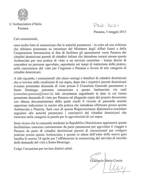 consolato per novit 224 per il visto di ingresso in italia dei cittadini