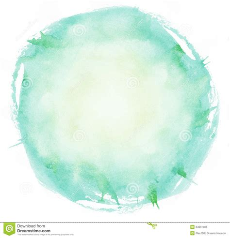 Calming Colours by Bright Watercolor Brush Strokes Circle Stock Photo Image