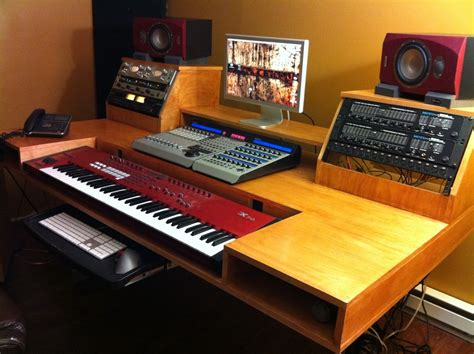 Diy Recording Studio Desk Studio On Recording Studio Home Recording Studios And Home Studios