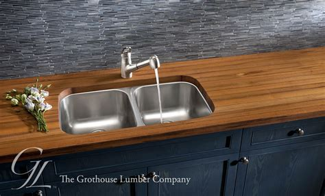 Undermount Sink With Wood Countertop teak wood countertop with undermount sink in leola pa