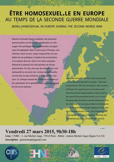 Conseil Européen Siège by Colloque 202 Tre Homosexuel Le En Europe Au Temps De La