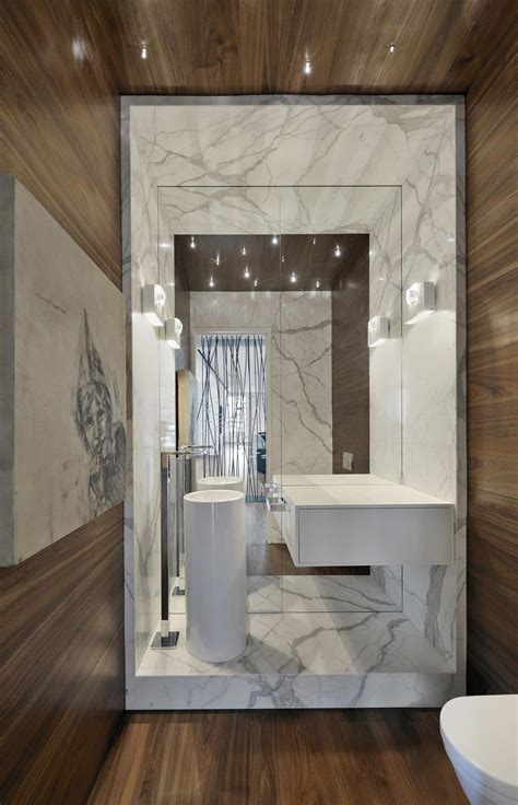 toronto bathrooms large mirror modern sink bathroom yorkville penthouse