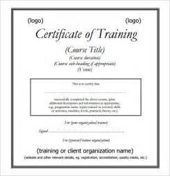 Training Certificate Template Sample Training Certificate Template 25 Documents In