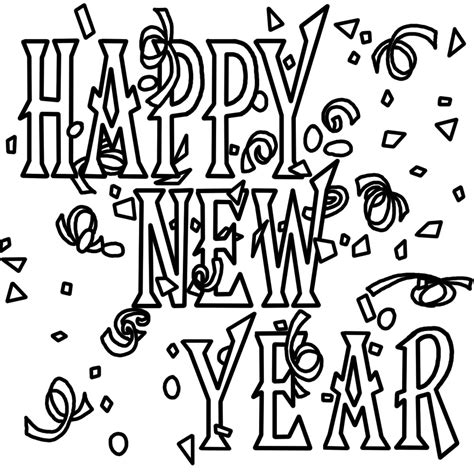 new year printable pictures free printable new years coloring pages for