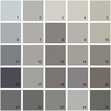 Wall Paint Ideas 5442 by Benjamin Paint Colors Gray Palette 09 House