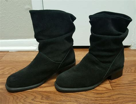 boats made in canada martino womens suede leather slouchy black boots 9w made