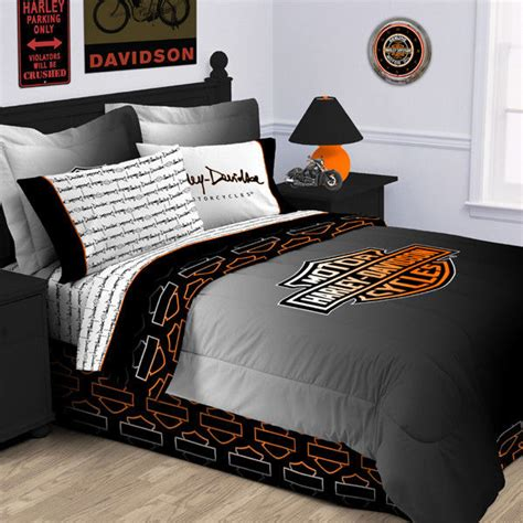 motorcycle bedding harley davidson rebel comforter twin size love cars