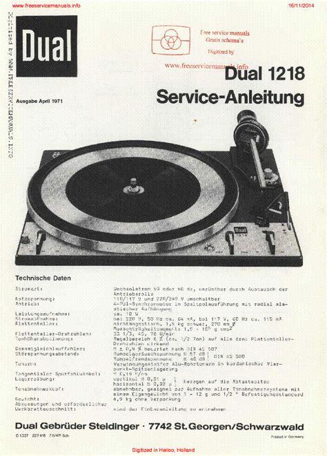 Dual 1237 Sm Service Manual Download Schematics Eeprom