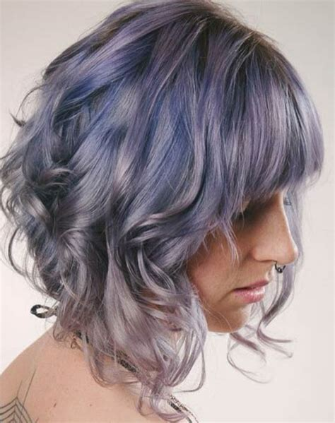curly hairstyles with long in front short in back front layered haircut with bangs haircuts models ideas