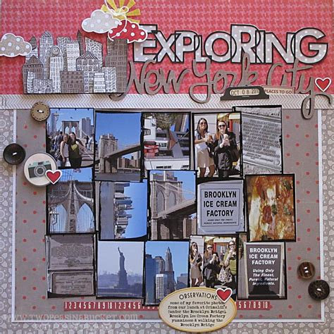 scrapbook layout with lots of pictures nichol spohr llc scrapbook sting october 2011