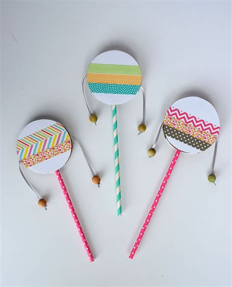 craft ideas for musical instruments diy spin drum for birthday crafts for