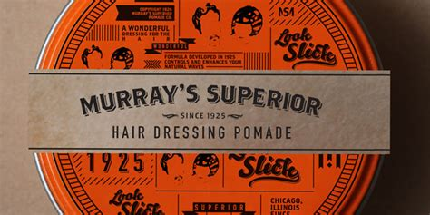 Pomade Murray S Superior student spotlight murray s superior hair dressing pomade the dieline packaging branding