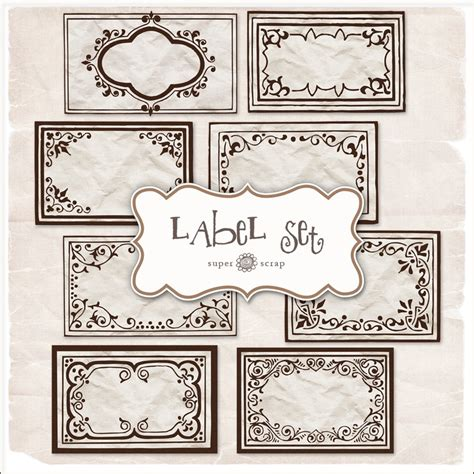 craft label templates free printable labels craft ideas