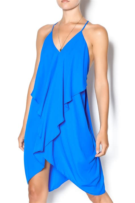 Flowy Blue Sarfana 1 olivaceous blue flowy dress from miami by chica shoptiques