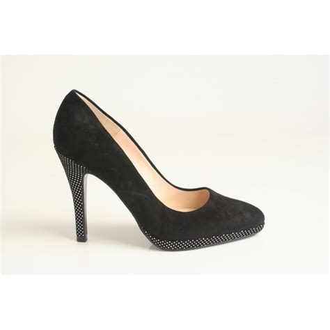 silver patterned heels peter kaiser peter kaiser style hertha black suede