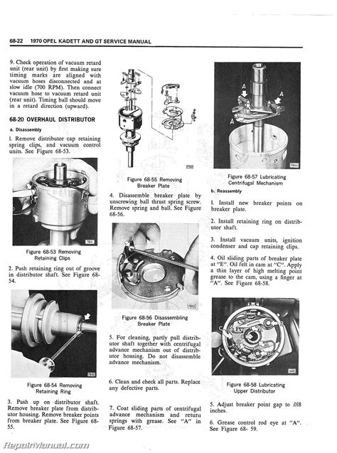 1970 opel kadett gt service manual