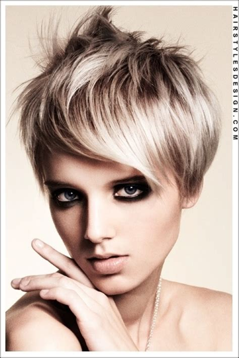 this short hairstyle has lots of volume as it is thick and hair style this woman has a cool retro hairstyle that is