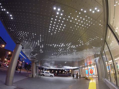 hotel light installation leo villareal s led light installation denver review