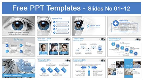 ophthalmology template eye scanning ophthalmology powerpoint template