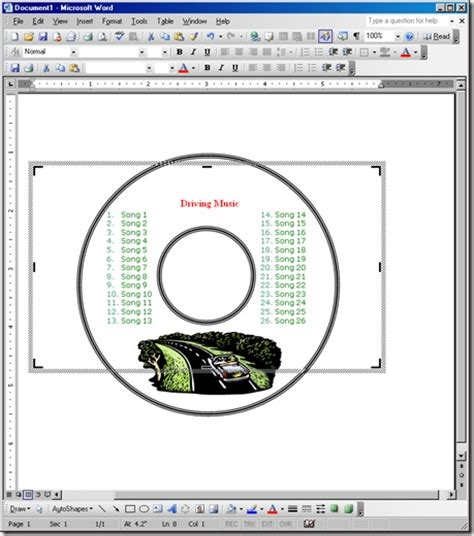 word cd template create your own cd and dvd labels using free ms word