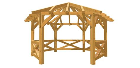 pavillon rundholz holz 6 eck pavillon selber bauen holz bauplan de