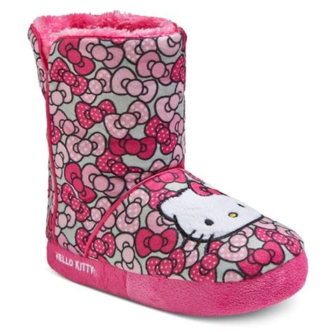 hello kitty house shoes toddler girls hello kitty bootie slippers target