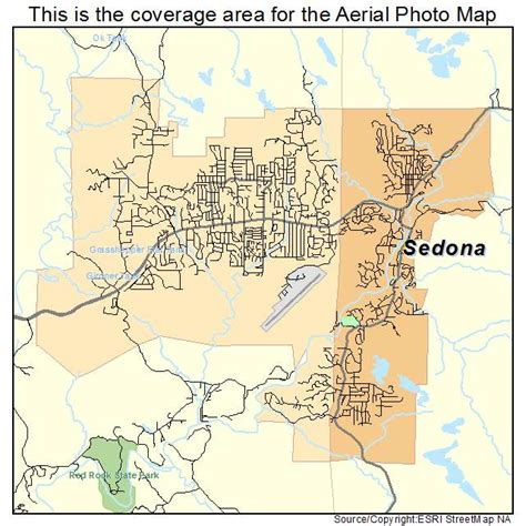 sedona az map aerial photography map of sedona az arizona