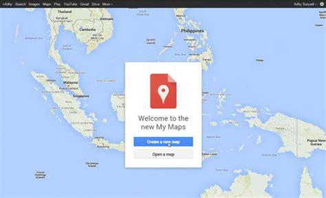 membuat link google map screenshot create a new map