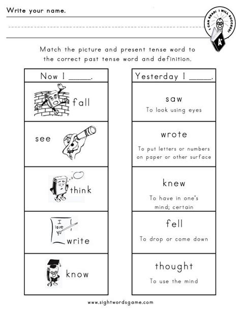 Irregular Verbs Worksheet 2nd Grade by 17 Best Images About Tense On Verb Tenses