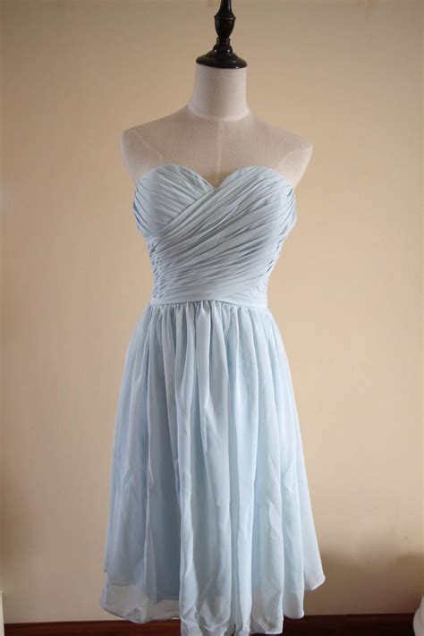 light blue knee length dress light blue bridesmaid dress knee length floor