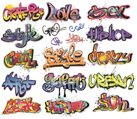 printable graffiti fonts free vector beautiful graffiti font design 01 vector