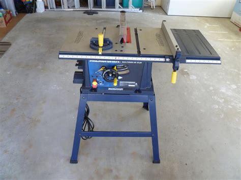 mastercraft 10 bench saw mastercraft 10 quot table saw youbou cowichan