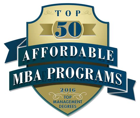 Top Affordable Mba Programs top 50 affordable mba programs 2016