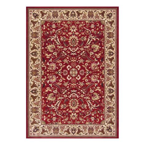 7 x 10 area rug natco kurdamir kashan claret 7 ft 10 in x 10 ft 10 in area rug 2067cn81h the home depot