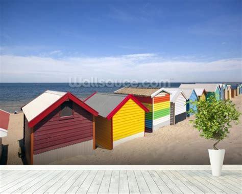 wallpaper for walls melbourne melbourne beach boxes wallpaper wall mural wallsauce denmark